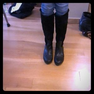 Black suede boots. Great condition!